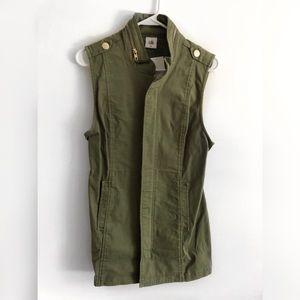 NWT Cabi Olive Long Vest, size xs